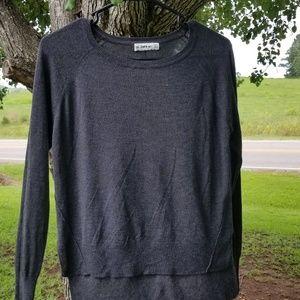 Zara Knit Hi-Lo Crewneck Sweater